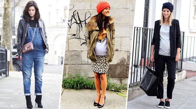 Осенние луки для беременных